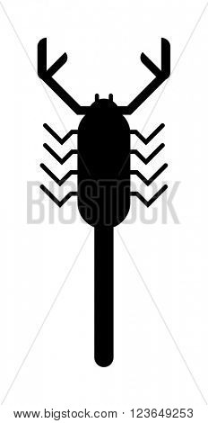 Scorpion black silhouette insect animal vector.