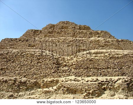 Pyramid of Djoser the Saqqara necropolis Egypt