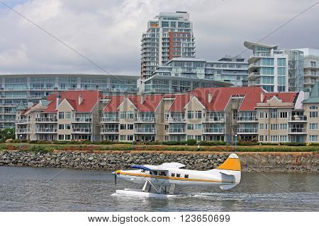 Seaplane in Victoria Harbour on Vancouver Island