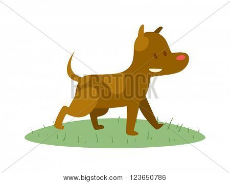 Cute cartoon puppy dog animal pet character vector.