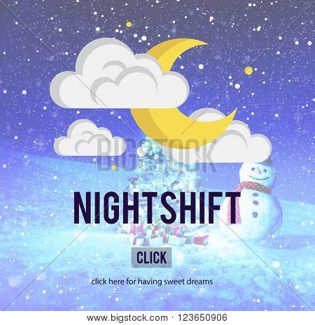Nightshift Business Evening Hours Overtime Concept