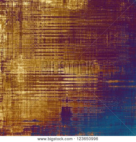 Vintage background - dirty ancient texture. Antique grunge backdrop with different color patterns: yellow (beige); brown; blue; purple (violet); pink