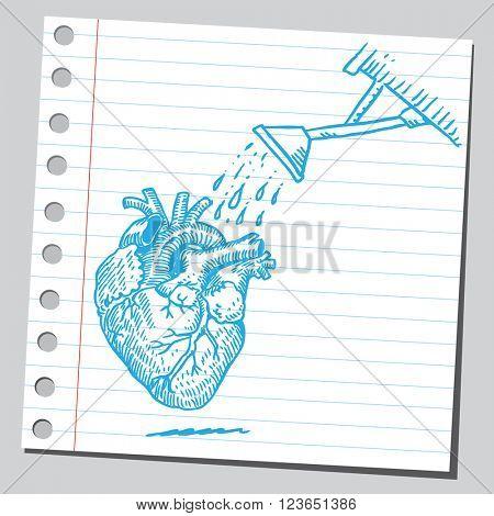 Watering heart
