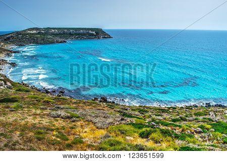 San Giovanni di Sinis cape in Sardinia