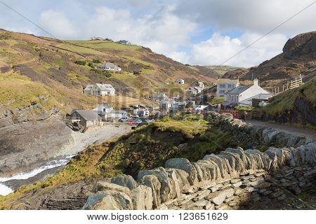 Trebarwith Strand North Cornwall England UK coast village between Tintagel and Port Isaac