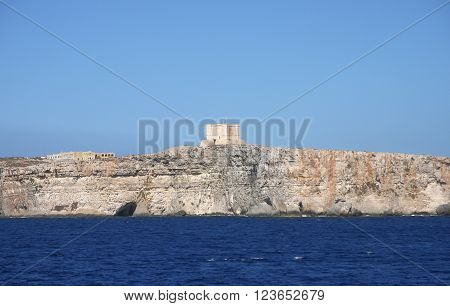St. Mary's watch tower, Comino Island, Malta
