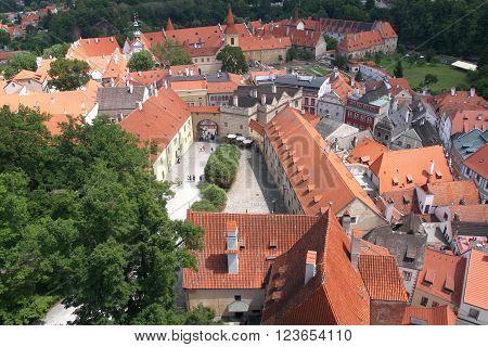 The medievl city of Cesky Krumlov, Czech republic