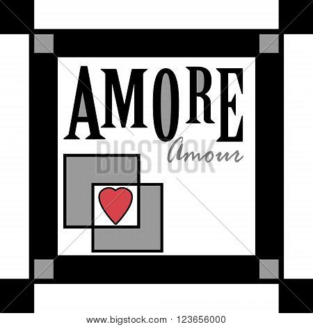 Background retro scandinavian illustration love amore design