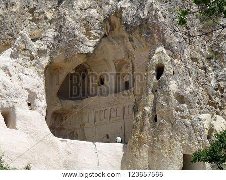 A chapel in rock, Goreme, Cappadocia, Turkey