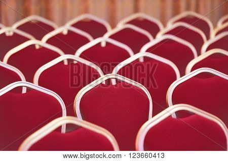 Vintage shot of empty chairs in a meeting and events room