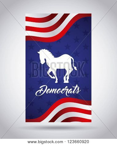 Democrat party design, vector illustration eps10 graphic