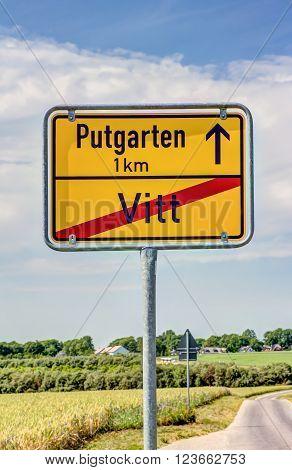 Traffic Sign On Rugen