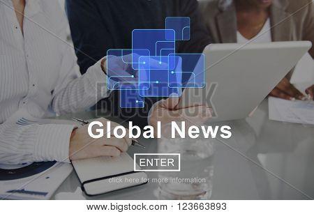 Global News Online Technology Update Information Concept