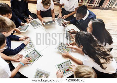 Academic School Children E-learning Concept