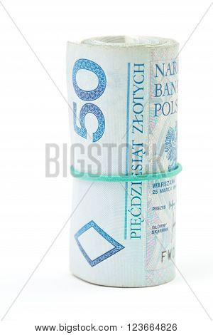 Roll Of Polish 50 Pln Banknotes