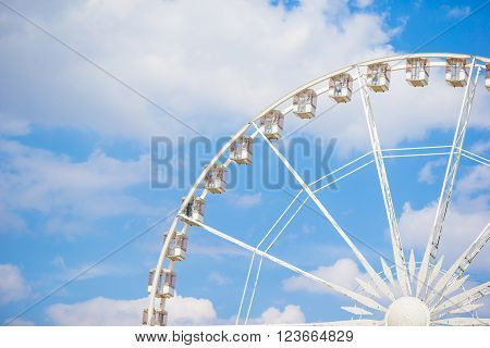 Ferris wheel Roue de Paris on the Place de la Concorde from Tuileries Garden