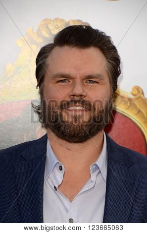 LOS ANGELES - MAR 28:  Tyler Labine at the The Boss World Premeire at the Village Theater on March 28, 2016 in Westwood, CA