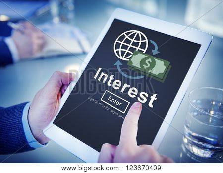 Interest Banking Rate Financial Concept