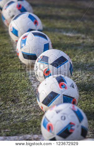 Official Match Balls Of The Uefa Euro 2016 (adidas Beau Jeu)