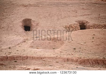 Nomad Caves In Atlas Mountains, Morocco