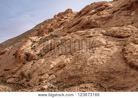 Berber Sign On The Rock In Atlas Mountains, Morocco