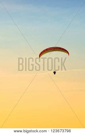 Paraglider In Flight
