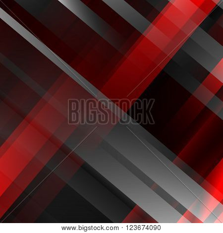 Abstract black and red geometric background, Modern overlapping strips. Vector illustration EPS10