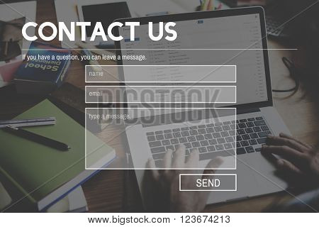 Contact Us Call Service Customer Care Website Webpage Concept