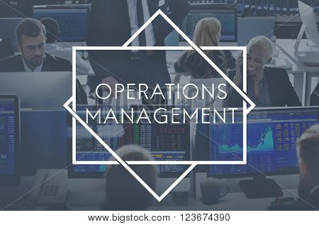 Operations Management Finance Corporate Concept