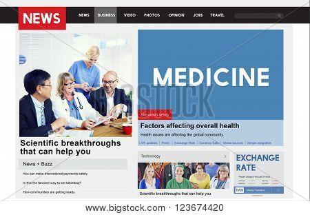 Medicine Diagnosis Symptoms Physical Healthcare Concept