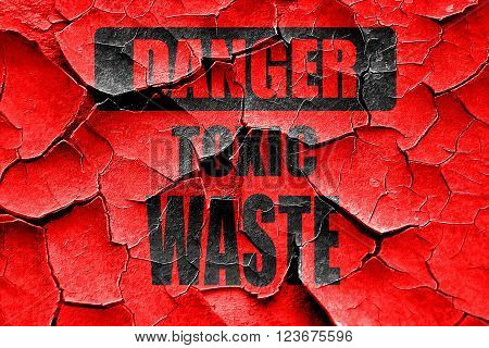 Grunge cracked Toxic waste sign with some smooth lines