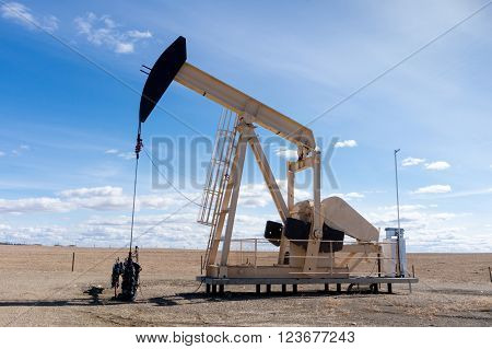 Pumpjack In Rural Alberta, Canada