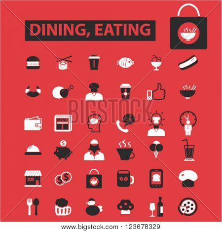 dining, eating icons