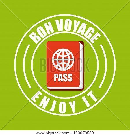 von voyage seal design, vector illustration eps10 graphic
