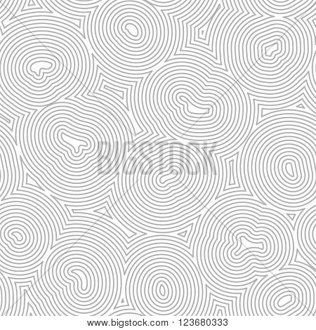 Vector seamless topographic pattern. Texture with organic lines.