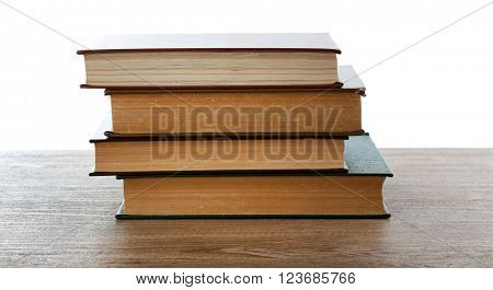 Few books on table