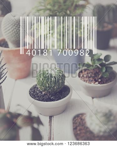 Barcode Data Industry Label Laser Retail Concept