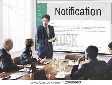 Notification Alert Icon Inbox Internet Message Concept