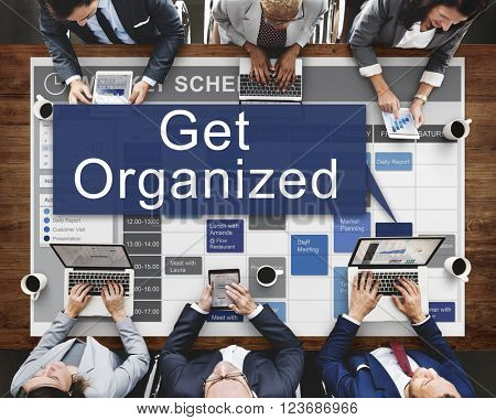 Get Orgaized Management Set Up Organization Plan Concept