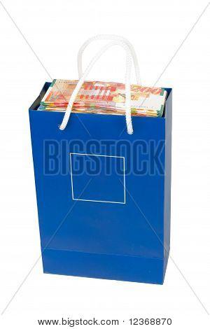 Sheqel In A Blue Bag