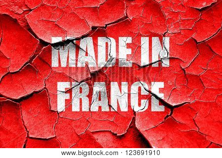 Grunge cracked Made in france with some soft smooth lines
