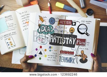 Artistry Book Design Table Concept