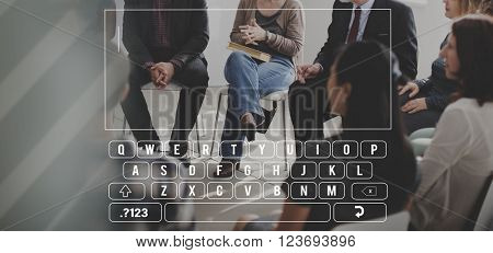 Keyboard Message Text SMS Concept