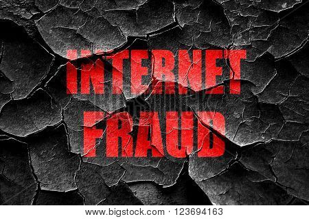 Grunge cracked Internet fraud background with some smooth lines