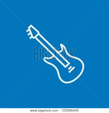 Electric guitar line icon.