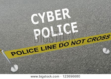 Cyber Police Concept