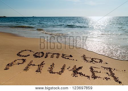 Tropical beach Phuket, Thailand. Come to Phuket