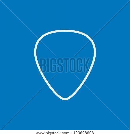 Guitar pick line icon.