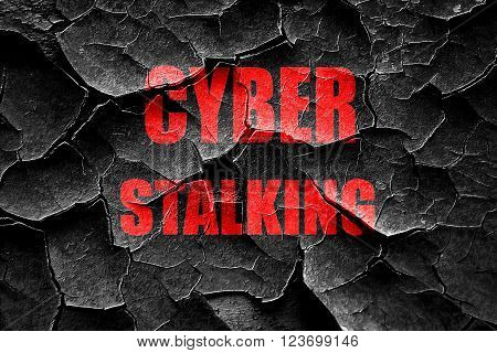 Grunge cracked Cyber stalking background with some smooth lines