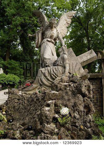Beautiful angel statue